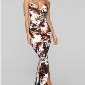 Fashion Nova Chasing waterfalls maxi dress